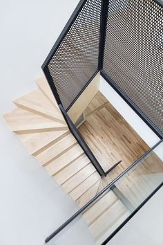 What do you think of designing and decorating your home in a new way using perforated metal sheets? Perforated metal sheets are also referred to as Contemporary Stairs, Modern Stairs, Contemporary Interior Design, Staircase Design Modern, Contemporary Architecture, Modern Design, Stair Handrail, Staircase Railings, Stairways