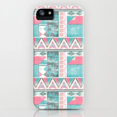 Aztec Pattern iPhone Case by Kiley Victoria - $35.00