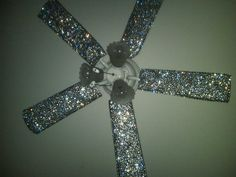 Ceiling-Fan-Light-Covers - Look! a #beedazzled #ceiling fan! Haha could be fun for a young girl's room!