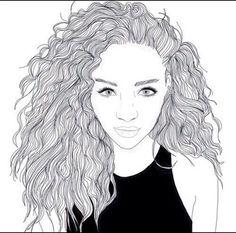 black, black and white, cute, girl, goals, light, love, ness, outline, tumblr, white, vsco
