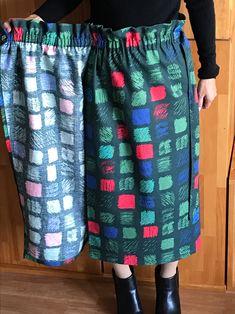 ラップスカートの裁ち方図と作り方