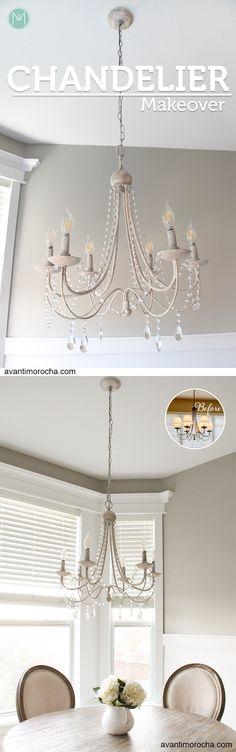DIY Chandelier Makeover  | Araña de luces | Crystal