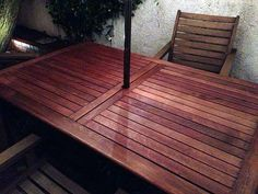 Brilliant teak + table outdoor living that look beautiful Garden Table And Chairs, Bar Chairs, Teak Outdoor Furniture, Teak Table, Building A Deck, Teak Wood, Porch Swing, Outdoor Decor, Outdoor Living