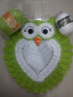 This Pin was discovered by Pat Crochet Applique Patterns Free, Doily Patterns, Crochet Chart, Crochet Motif, Crochet Doilies, Crochet Afghans, Knitted Owl, Crochet Owls, Crochet Home