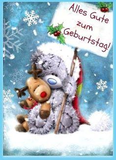 Teddybär mit Mitteilung: Alles Gute zum Geburtstag!