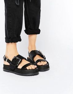 ASOS FRAYER Chunky Buckle Sandals