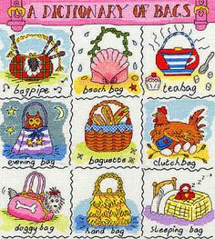 A Dictionary of Bags - Bothy Threads cross stitch kit