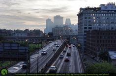 Brooklyn Queens Expressway (BQE) from the Manhattan Bridge Pedestrian Walkway