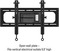"Sanus - Tilting TV Wall Mount For Most 37"" - 95"" LCD TVs - Black"
