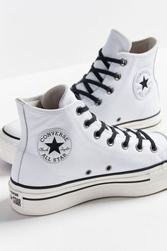 61dfc49d294 White Platform Converse leather Wedge High Top Lux Club Kicks Custom w/  Swarovski Crystal Rhinestone Chuck Taylor All Star Sneakers Shoes
