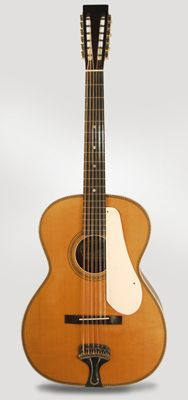Fraulini Francesca Leadbelly Model 12 String Flat Top Acoustic Guitar (2014)