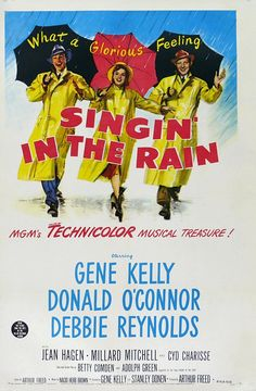 Cool Vintage Movie Posters | Singing in the rain THIS IS THE SONG I TAPPED DANCED TO ON THE MILKY THE CLOWN SHOW...