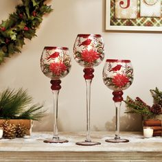 SALE! 25% off Christmas Hand Painted Glassware – ends Sunday, 11/30