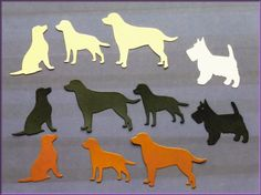 Die Cut Dog Shapes. Labradors & Scotty Dog  16 by MelAriandme