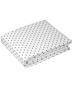 Flannel Flat Sheet | White Dots