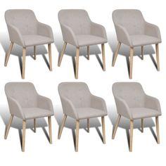 6xStühle Stuhlgruppe Esszimmerstühle Stuhl Esszimmerstuhl Armlehne Beige Eiche#Ssparen25.com , sparen25.de , sparen25.info