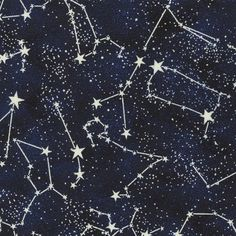 Stargazers - Constellations (Glow In Dark) - Timeless Treasures
