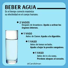 #Salud #Beneficios de beber #Agua en el tiempo correcto maximiza su efectividad en el cuerpo humano... vía @Candidman