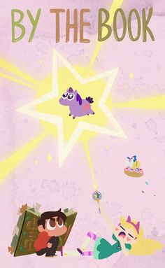 """A page for describing Recap: Star vs. the Forces of Evil """"By the Book"""". After an argument with Star, Glossaryck goes into hiding in a donut box. Starco, Star E Marco, Homestuck Characters, Princess Star, Star Character, Fanart, Title Card, Star Wars, Star Butterfly"""