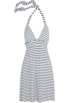 Heidi Klein Biscayne Bay rope-print jersey beach dress - 45% Off Now at THE OUTNET