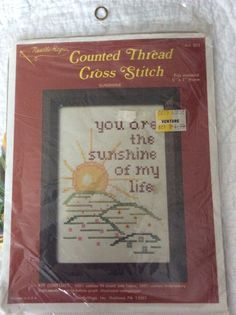 Needlemagic Cross Stitch 801 SUNSHINE --You are the Sunshine of My Life Kit #Needlemagicinc