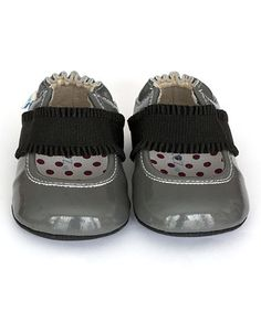 Another great find on #zulily! Cool Gray Annie Leather Ballet Flat #zulilyfinds