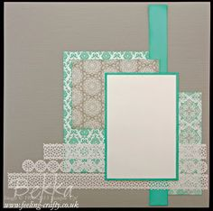 Eastern Elegance Scrapbook Page by UK Stampin' Up! Demonstrator Bekka Prideaux - get these papers here                                                                                                                                                                                 More