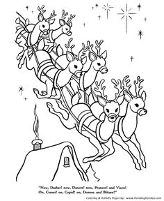 A Visit From St Nicholas Twas The Night Before Christmas Page 10 Of 25 Christmas Art For Kids The Night Before Christmas Christmas Coloring Pages