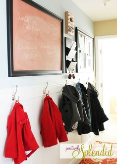 Hallway Command Center - A great option for homes without a mudroom!