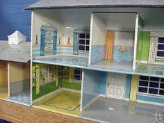 1950s Marx Walt Disney Tin Litho Two Story Metal Doll House w Furnitue U s A | eBay