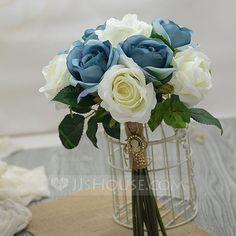 [£ 19.00] Pretty Hand-tied Artificial Silk Bridesmaid Bouquets (123061348)