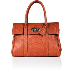 Mulberry snake print leather