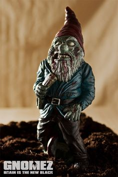 GnomeZ: Zombie Garden Gnomes. I don't even have a garden and these would be cool!