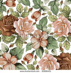 Pattern Vintage Flower Fotos, imagens e fotografias Stock   Shutterstock
