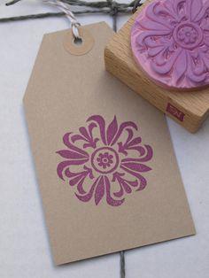 Pflanzen - handgeschnitzter Stempel • Blüte 4 - ein Designerstück von Nettis-STAMPelArt bei DaWanda
