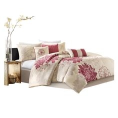 Lola 6 Piece Duvet Set in Fuchsia, currently on Daily Sales at Wayfair.com for $72 with free shipping.  Lots more to see, too.