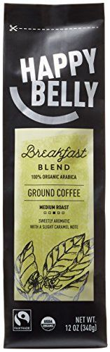 Happy Belly Breakfast Blend Organic Fairtrade Coffee Medium Roast Ground 12 ounce >>> Details can be found by clicking on the image.-It is an affiliate link to Amazon.