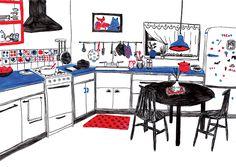 Mouni Feddag Illustration – What Is Illustration Good For? What Is Illustration, Illustration Sketches, Graphic Design Illustration, Digital Illustration, Vegetable Illustration, House Drawing, Book Projects, Kitchen Art, Art Of Living