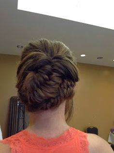 wedding updo fishtail braids