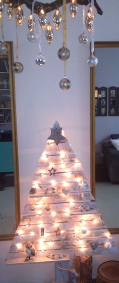 made a christmas tree from pallets