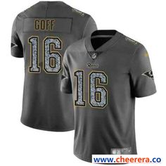 Men's Nike Los Angeles Rams #16 Jared Goff 2019 Gray Fashion Static Limited Stitched NFL Jersey