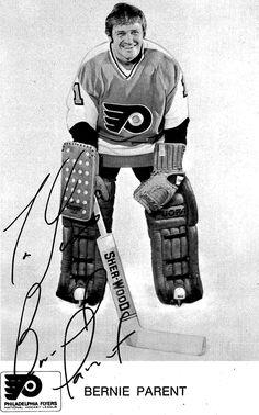 Bernie Parent. Nhl, Hockey Teams, Ice Hockey, Bernie Parent, Vancouver Canucks, Philadelphia Flyers, My Themes, Trading Cards, 1970s