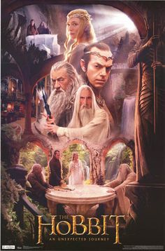 The Hobbit Rivendell Wizard Council Cast Movie Poster 22x34 – BananaRoad