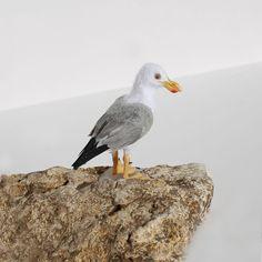 OOAK Miniature 1:12 Seagull ~ Dollhouse Animals Birds by Katie Doka *IGMA | eBay