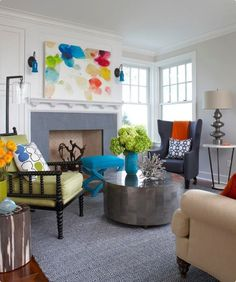 Traditional Eclectic Living Room Design