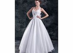 Ball Gown Halter Sweetheart Beaded Bow Crystal Back Details : Backless Design inspiration : Celebrity style Fabric : Organza Satin Silhouette : Plus Sizes Princess Waist : Natural Style : Cute Noble Romantic Sleeve : Sleeveless Show Color : White  http://www.comparestoreprices.co.uk/ball-gowns/ball-gown-halter-sweetheart-beaded-bow-crystal.asp