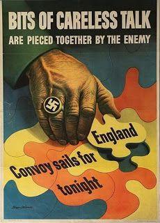 Bits Of Careless Talk - 1943 - World War II - Propaganda Poster Ww1 Propaganda Posters, Ww2 Posters, Political Posters, Poster Ads, History Posters, History Memes, Travel Posters, Patriotic Posters, Patriotic Images