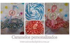 Caramelos personalizados http://antonelladipietro.com.ar/blog/2012/03/payasos-en-el-cumple/