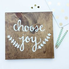 Choose Joy rustic farmhouse Calligraphy by RedeemingLoveDesign