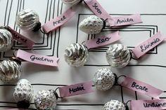 Tischdeko für Geburtstag, einfach, Namensschilder, mit Fotos